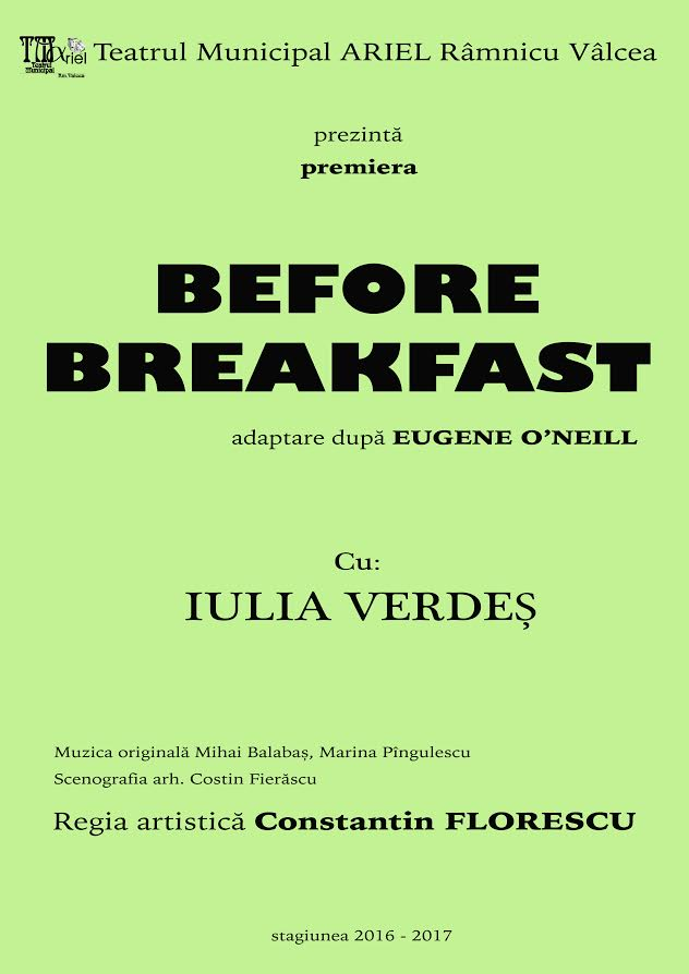 before breakfast by eugene o neill Before breakfast has 53 ratings and 10 reviews hend said: before breakfast is a one-act play , eugene focuses on mrs rowland the wife and show her hard.